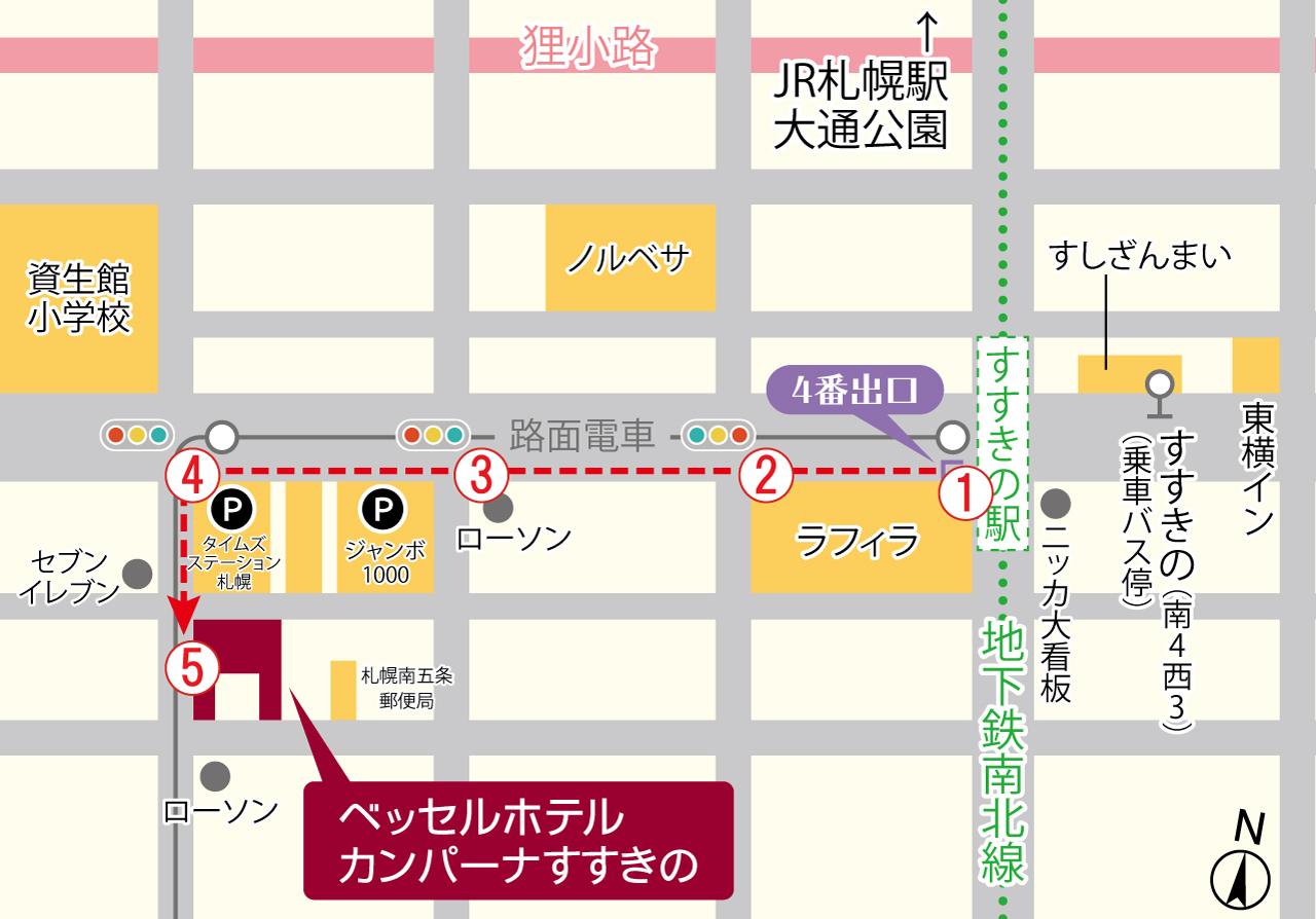 駅からの経路図
